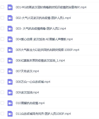 武汉加油抗击疫情1080P高清视频
