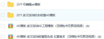 武汉加油抗击疫情AE工程模板